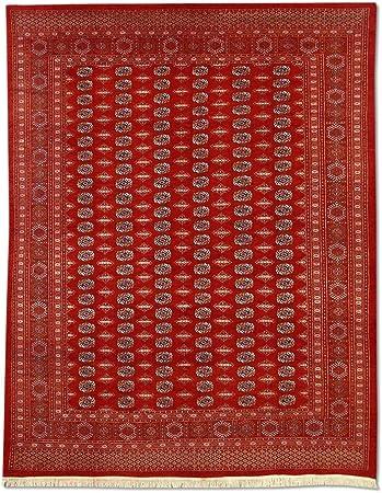 Traditional Persian Handmade Bokhara Rug Wool Burgundy Red 8 X 10 Ft Furniture Decor