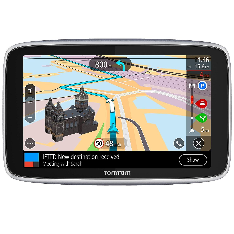 TomTom Go Premium - Navegador Gps 6´con Actualizaciones via Wifi, Trafico y Radares para Toda la Vida Mediante Tarjeta Sim Incluida, Mapas del Mundo, ...