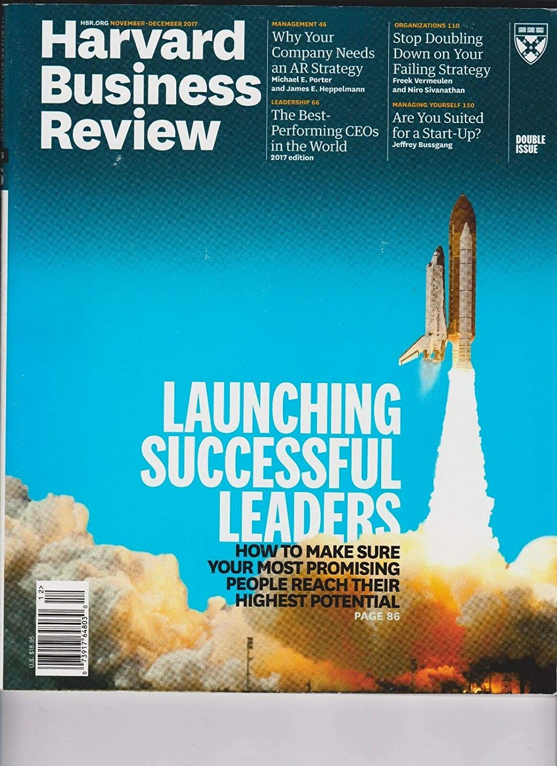 HARVARD BUSINESS REVIEW MAGAZINE NOV/DEC 2017,LAUNCHING SUCCESSFUL LEADERS. Unbranded