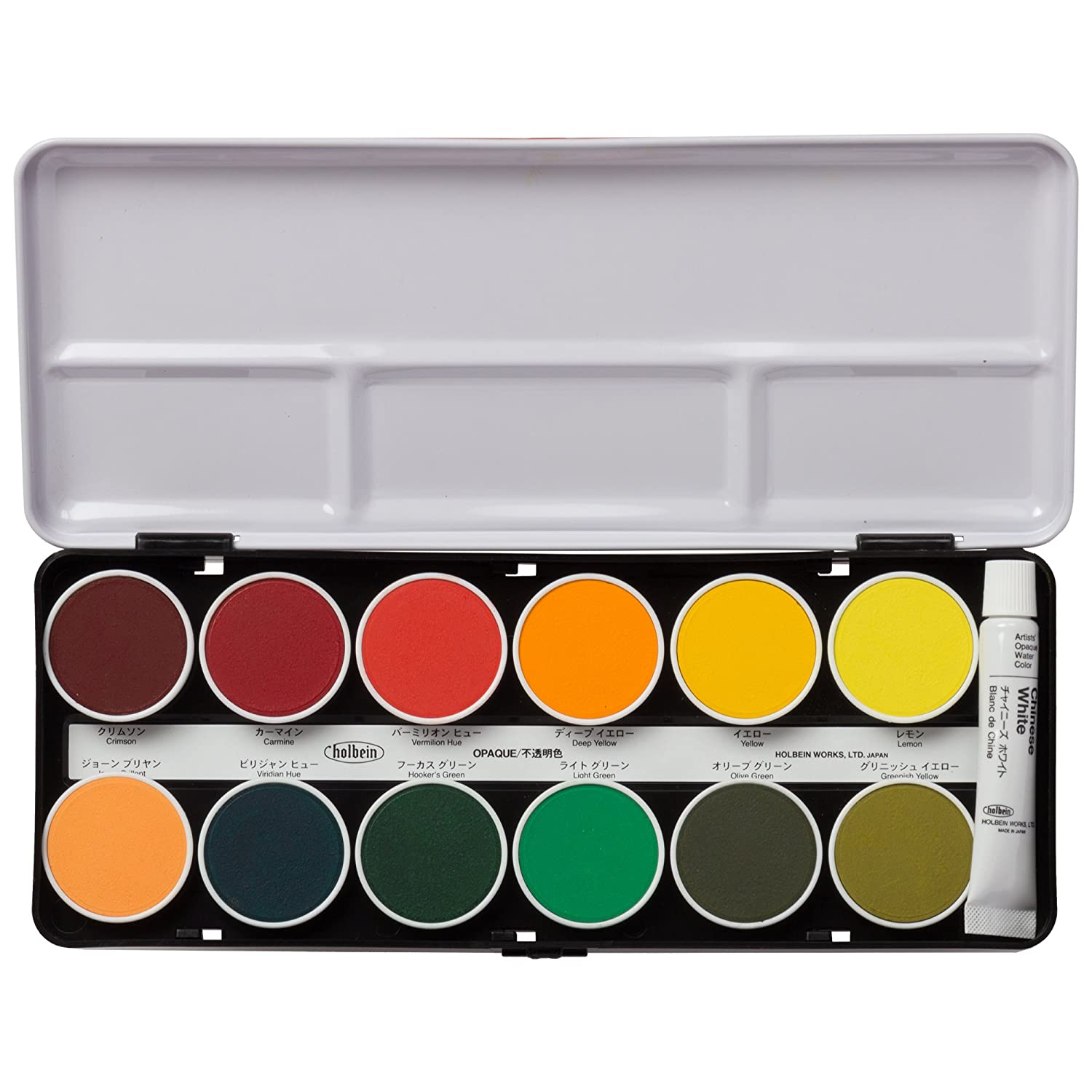 24 color set Holbein cake color solid opaque watercolor (japan import)