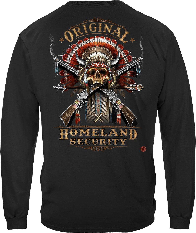 Vintage Retro T-Shirt Hoodie//Black//XL Deputy of Homeland Security