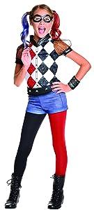 Rubie's DC Superhero Girl's Harley Quinn Costume, Large