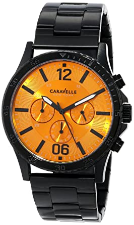 c4bb08f34 Image Unavailable. Image not available for. Color: Caravelle New York Men's  45A108 Chronograph Stainless Steel Watch