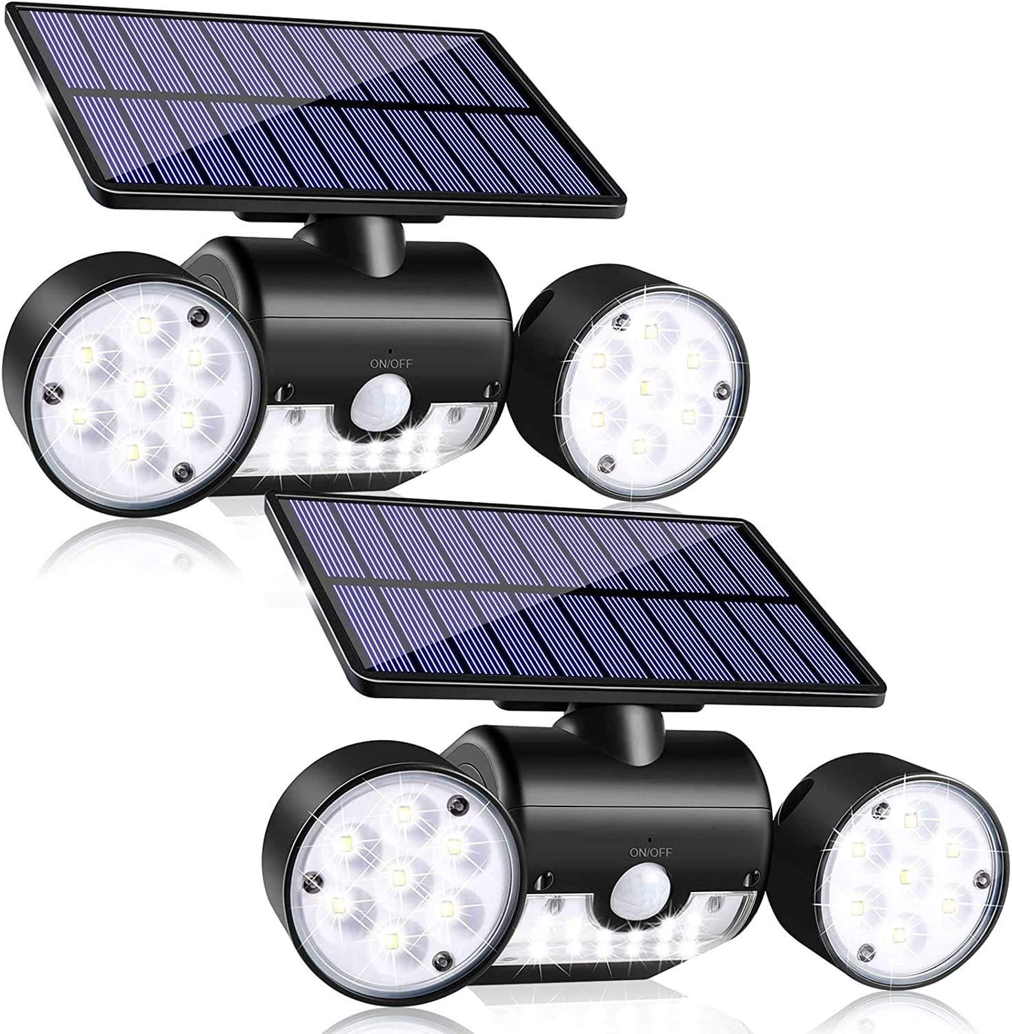 Amazon Com Copeak Solar Light Outdoor With Motion Sensor 30 Led Solar Powered Wall Light With Dual Head Spotlights Waterproof 360 Degree Rotatable Solar Security Night Light Outdoor For Garden 2 Pack Home Improvement