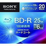 SONY ビデオ用BD-R 追記型 片面1層25GB 6倍速 ホワイトプリンタブル 20枚パック 20BNR1VGPS6