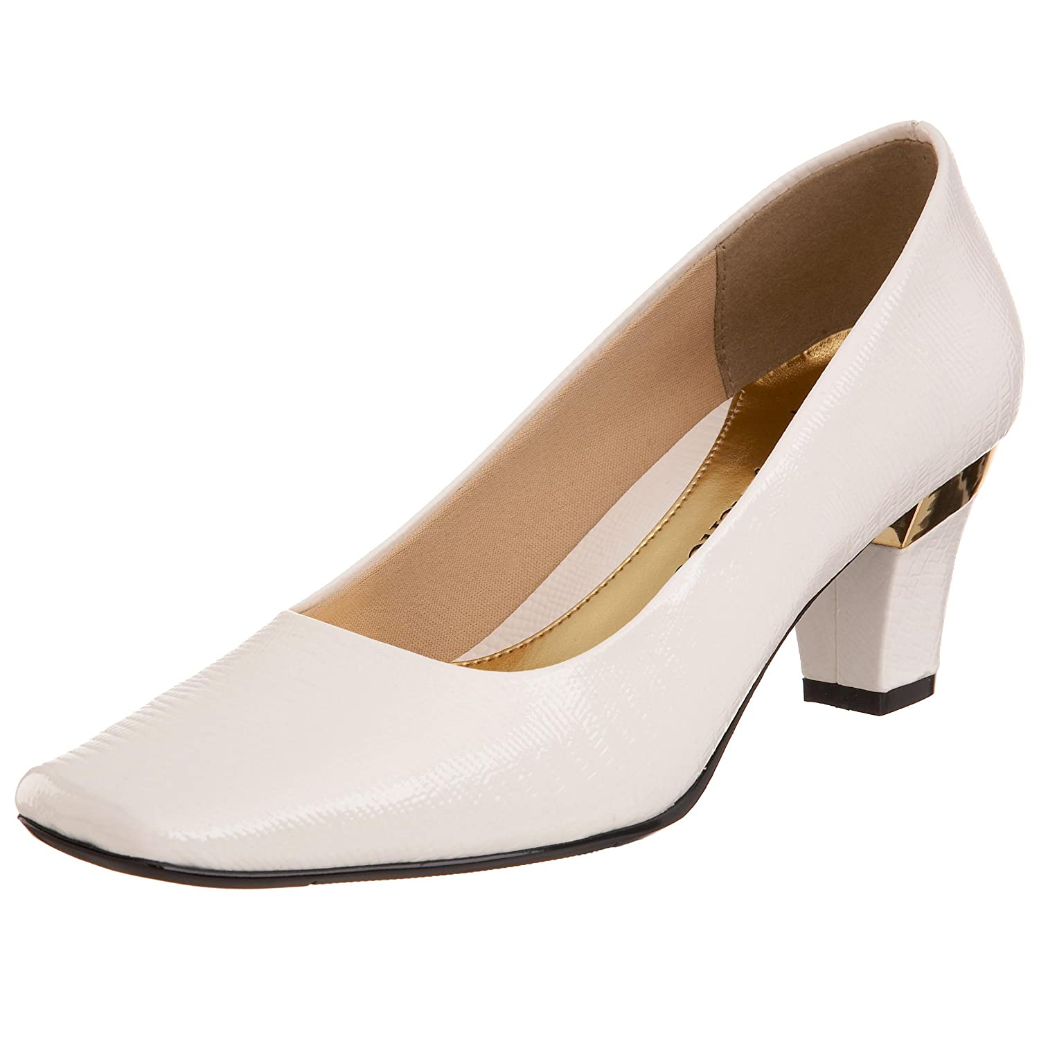 J.Renee Women's Mary Pump B002DPV22K 13 B(M) US|White