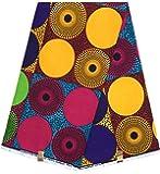 HITARGET Wax Pagne Tissu Africain Collection Original 6 Yards Super Cire imprimé Top qualité 100% Pur Coton réf SAF