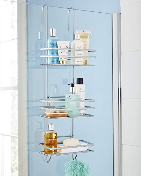 Improved Rust Proof 3 Tier Hanging Shower Caddy Bathroom Organiser