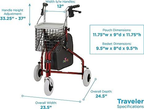 Amazon.com: NOVA Medical Products Traveler - Andador con ...