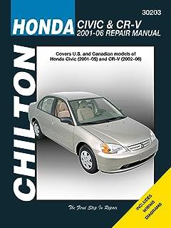 honda civic and crv 2001 04 haynes repair manuals chilton rh amazon com 2001 honda accord owners manual pdf 2001 honda crv owners manual