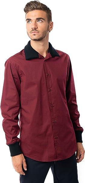 Morgan Visioli Fashion Camisa Hombre Burdeos: Amazon.es: Ropa ...