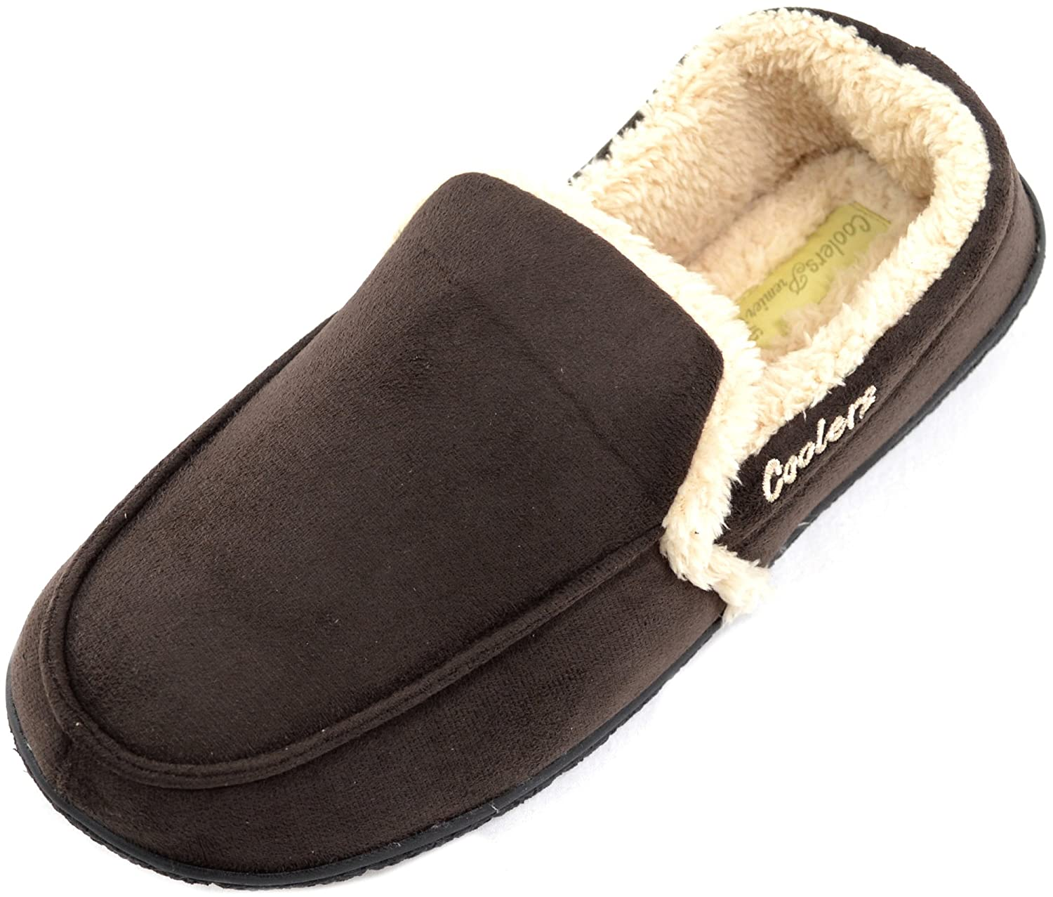 bf62fce87 Mens Soft Fleece Slippers / Indoor Shoes with Warm Faux Fur Inners:  Amazon.co.uk: Shoes & Bags