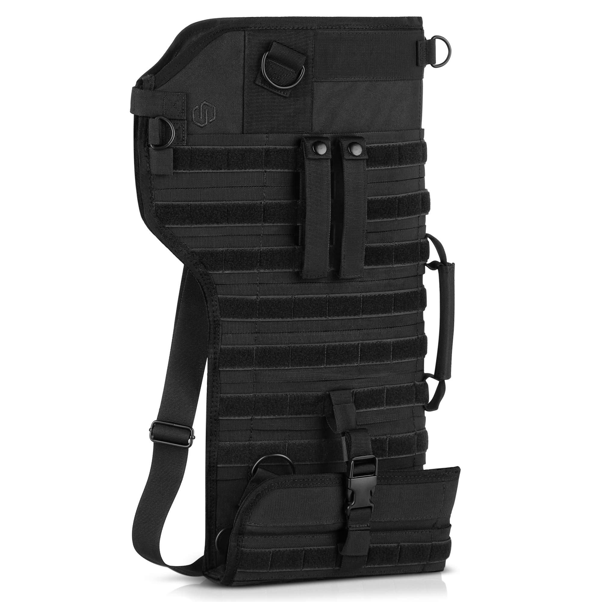 Savior Equipment Premium Tactical Shotgun Rifle Scabbard MOLLE Gun Case - Adjustable Carry Shoulder Strap, Firearm Protection Sling Bag by Savior Equipment