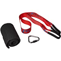 HearthSong 731926 Mega Tree Hanger Strap - for Outdoor Swings, Hanging Chairs, & Hanging Play Tents - Super Strong & Durable - Includes Branch Protector - Holdsup to 800 Lbs., Red & Black