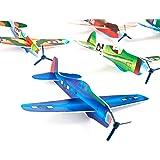 "2 Dozen Party Favors 8"" Glider Planes Fighter Jets - Fun Toys - Bulk Pk of 24 Gliders- Foam Glider Airplane - Fun Gift, Party Favors, Party Toys, Goody Bag Favors, Carnival Prizes, Pinata Filler"