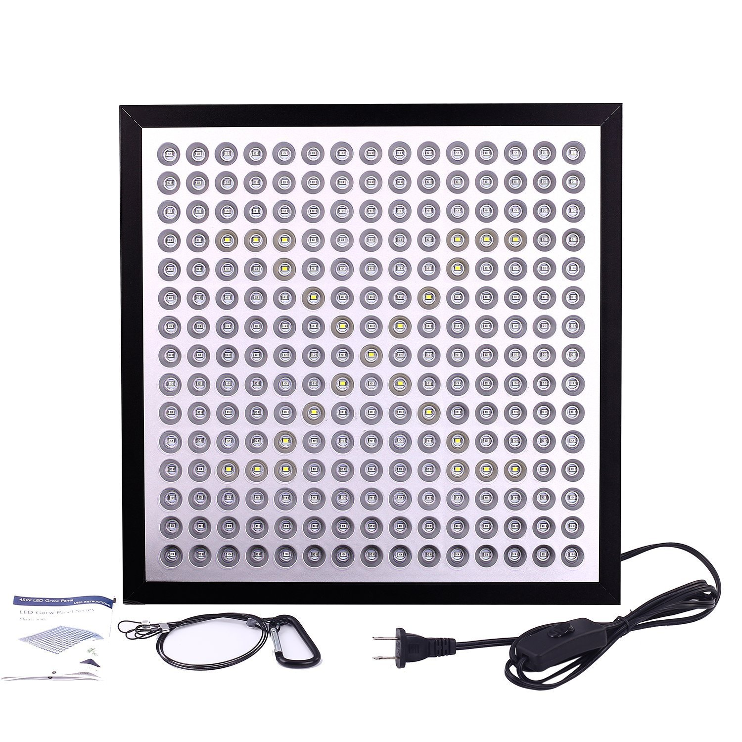 UFO LED Grow Light Panel 50W Grow Lamps Full Spectrum for seedlings Veg&Flowering with Big Chip Plant Light Indoor Plants Growing Light Bulbs with Swicth (45W)