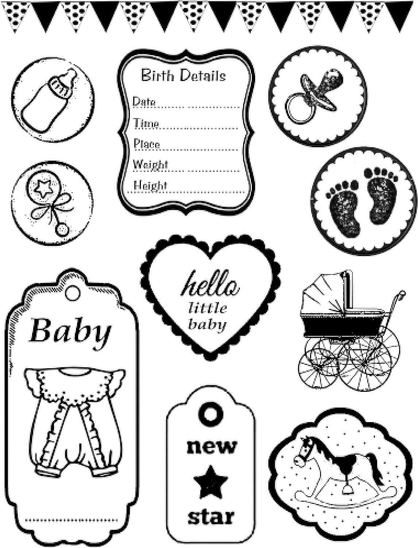 Stamperia Intl WTKCC23 Stamperia Cling Stamp 5.5X7-Baby
