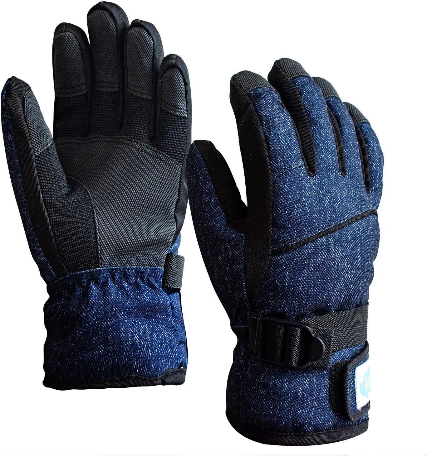 Heat Holders Kids Boys Girls Waterproof Warm Fleece Lined Insulated Winter Thermal Ski Gloves