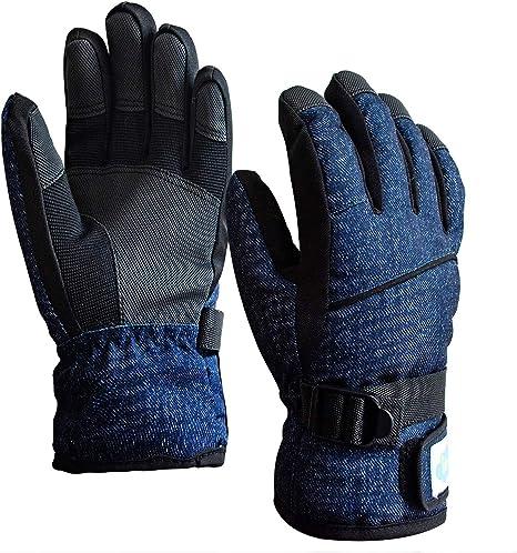 Winter Waterproof Thermal Comfort Sports Skiing Mittens Gloves Kids Boys Girls