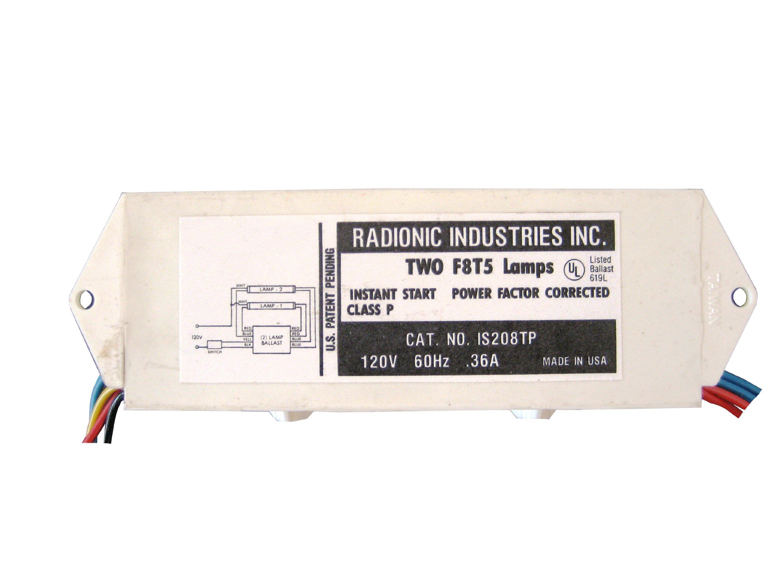 8-Watt T5 2-Lamp Normal Power Factor Magnetic Ballast-Radionic Hi Tech Inc.