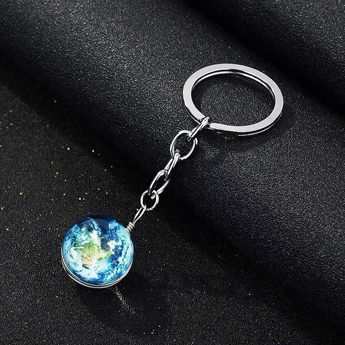 Mct12-1 - Llavero, diseño de globo de cristal de planeta ...