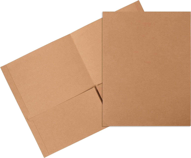 Juvale Bulk 12-Pack Kraft Brown Letter Size Twin Pocket Folders for School & Office, 12 x 9.25 Inches