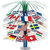 Beistle 50545 International Flag Cascade Centerpiece, 18-Inch