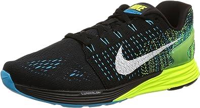 preocupación Imperialismo anchura  Amazon.com | Nike Lunar Trainer Running Shoes - Mens Black/Blue  Lagoon/Copa/Volt, 12.5 | Road Running