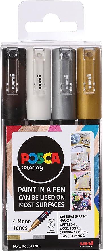 Posca PC-1M - Pack de 4 rotuladores de pintura al agua: Amazon.es ...