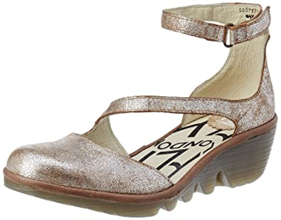 Womens Plan717fly Ankle Strap Heels FLY London