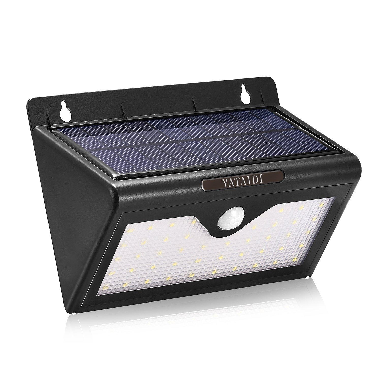 YATAIDI Solar Light 46 LEDs Wireless Motion Sensor Light Waterproof Security Lights Powerful Night Lighting for Outdoors Garden Wall Patio Yard Pathway