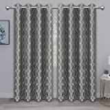PureFit Jacquard Blackout Curtains for Bedroom, Cold/Heat/Sun Blocking and Noise Reduction Thermal Insulated Window Drapes, G