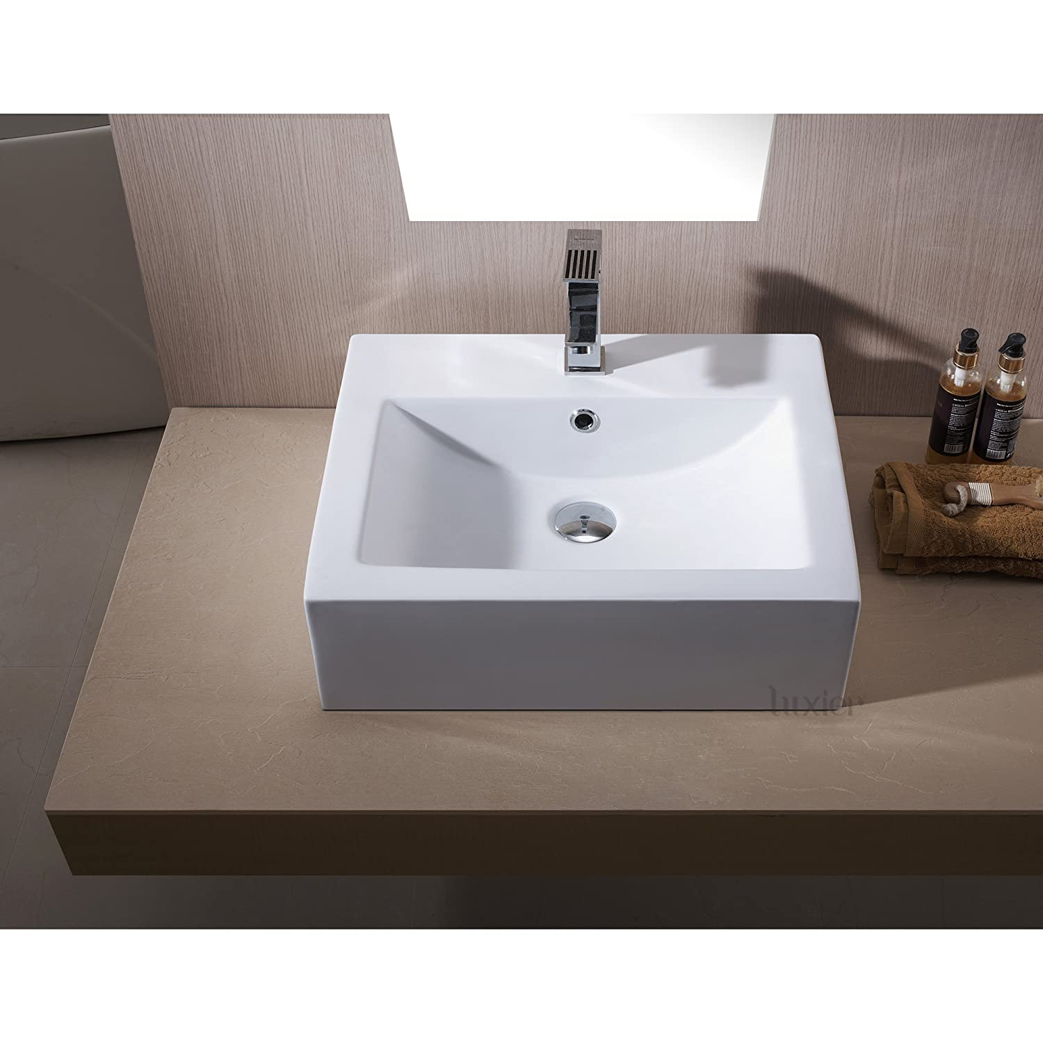 Bathroom available in 5 finishes vessel bathroom sinks msrp 425 - Luxier Cs 003 Bathroom Porcelain Ceramic Vessel Vanity Sink Art Basin Amazon Com