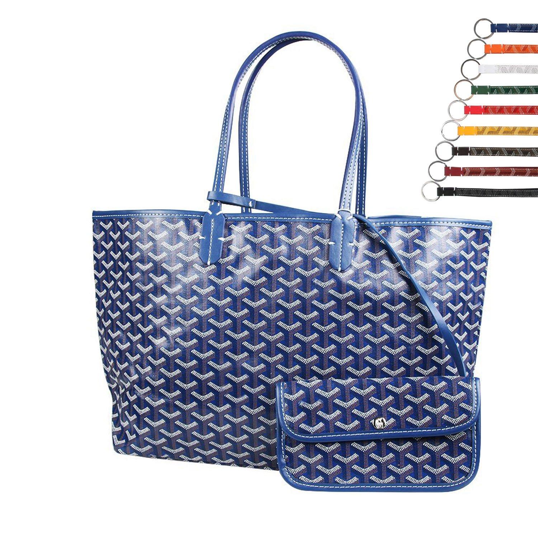 Stylesty Fashion Shopping PU Tote Bag, Designer Shoulder Handbags with Key Ring (Medium, Borland)
