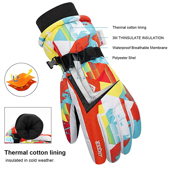 Sports Outdoors Toullgo Kids Ski Gloves Winter Warmest