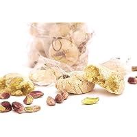 Siciliaanse amandel petit fours met pistachenoten uit Sicilië (400gr). RAREZZE: typisch Siciliaanse producten, cannoli…
