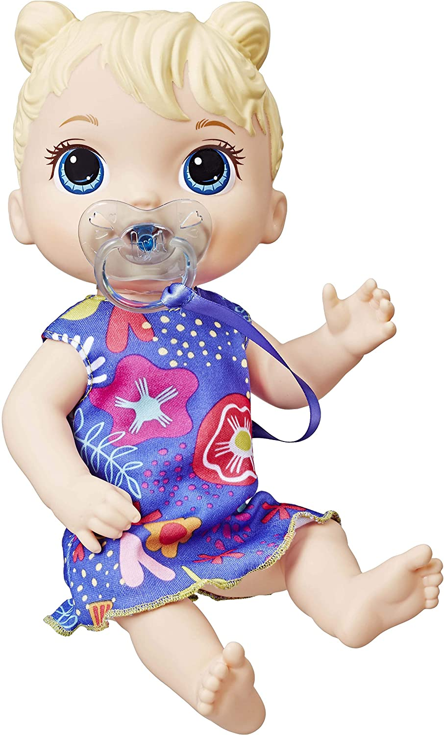 Baby Alive Baby Lil Sounds: Interactive Baby Doll for Girls & Boys Ages 3 & Up, Makes 10 Sound Effects, Including Giggles, Cries, Baby Doll with Pacifier