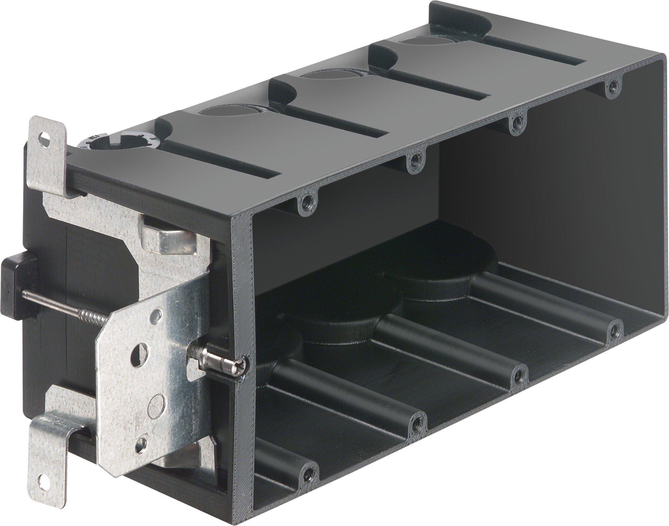 Arlington Industries FA104 4-Gang Adjustable Outlet Mount Box, 10-Pack