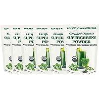 Supergreens Superfood Powder (Wheat Grass, Kale, Moringa, Spirulina), 204 Servings, Organic (2.25 LB)