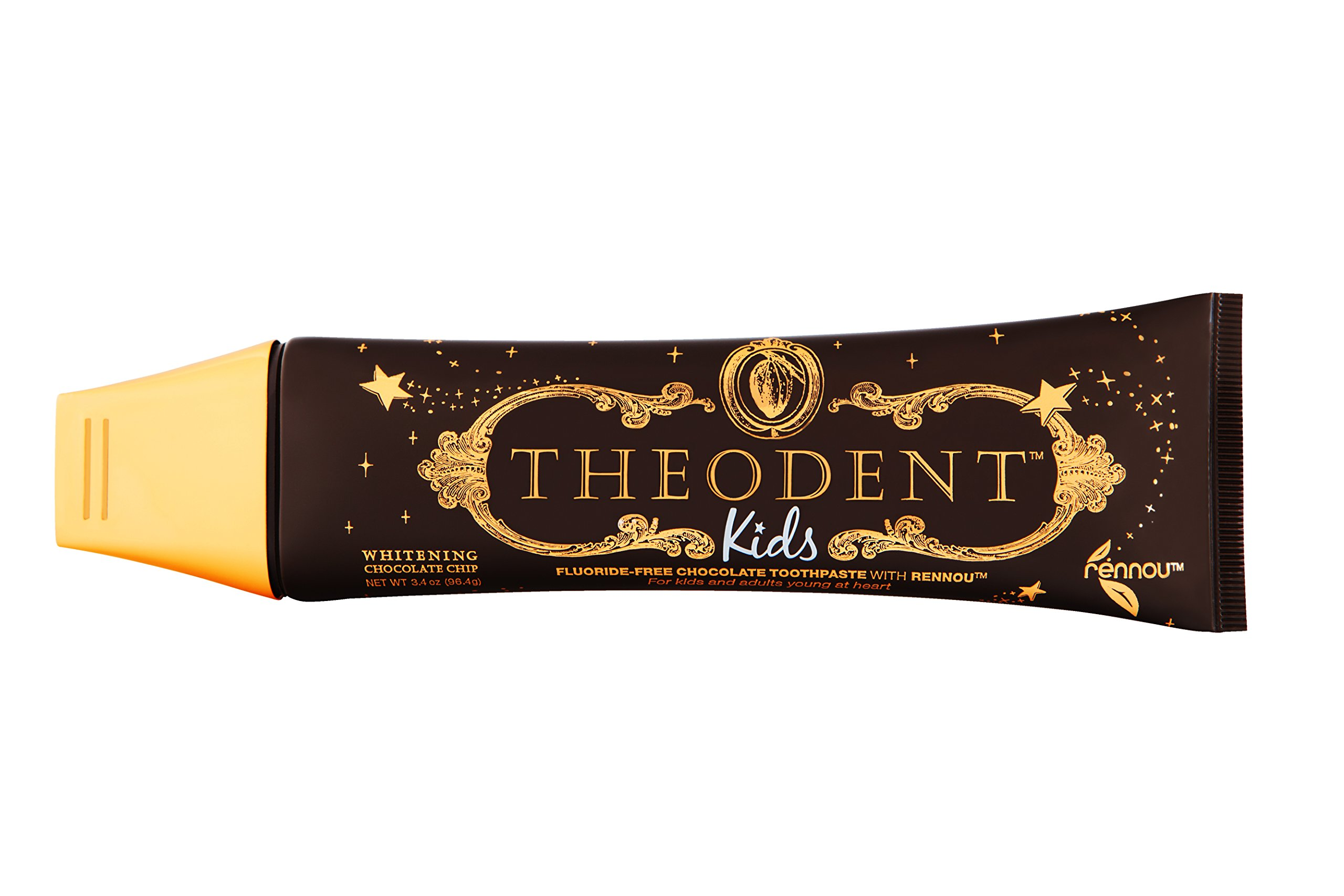 THEODENT KIDS with Rennou®: Whitening Chocolate Chip - Fluoride-Free Toothpaste Rebuilds, Hardens, and Strengthens Your Child's Enamel and Offers a Solution to The ''Do Not Swallow'' Dilemma