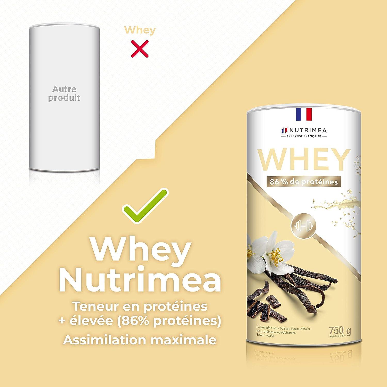Proteína Whey en Polvo - Suero de leche - Para Entrenar, el Crecimiento Muscular, el Rendimiento, la Recuperación - Sabor a Vainilla - 26 g de ...