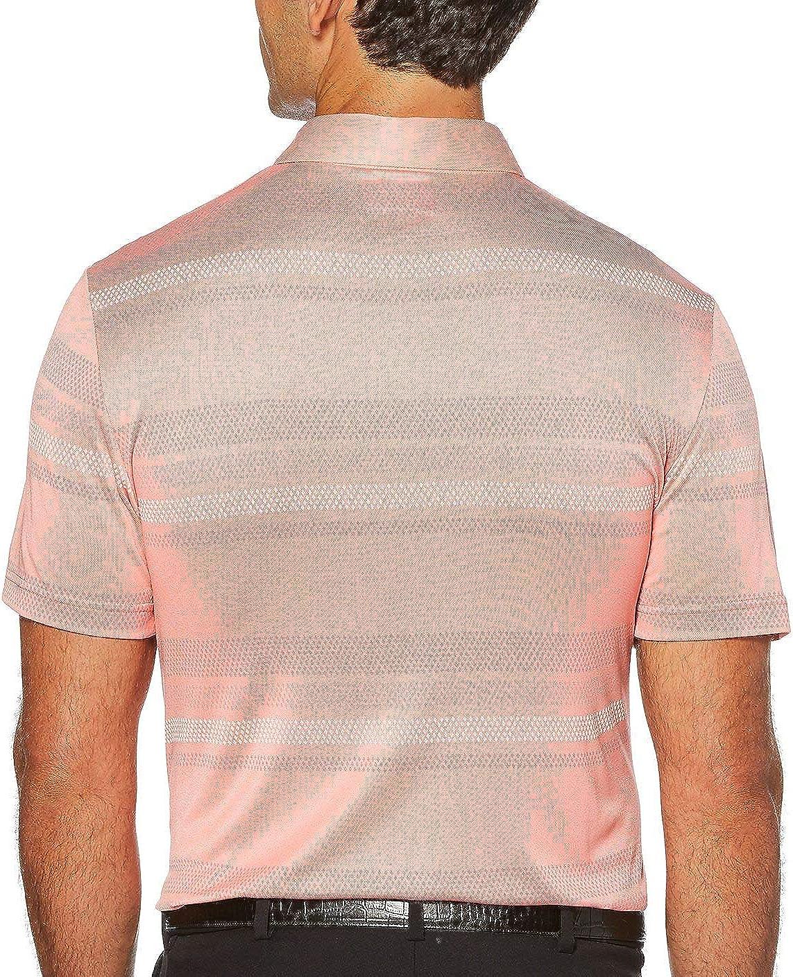 PGA TOUR Mens Short Sleeve Tour Soft Stripe Polo Shirt