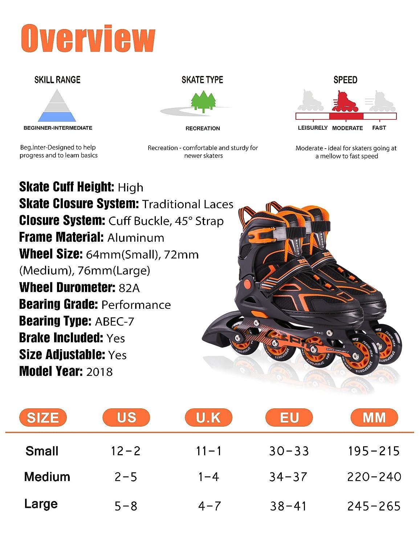 f8212266d8e9d8 2pm Sport Vinal Viola Pattini Inline Regolabili, Tutte Le Ruote LED, Inline  Skates per