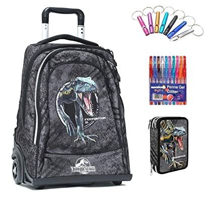 Jurassic world. Trolley Mochila Escolar Double by Gut Nueva ...