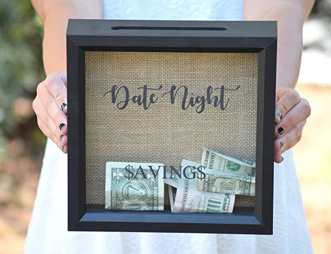 9a98477ca Date Night - Date Night Savings - Piggy Bank - Date Night Jar - Personalized  Gift - Shower Gift - Date Night Ideas - Date Night Jar - Picture Frame -  Shadow ...