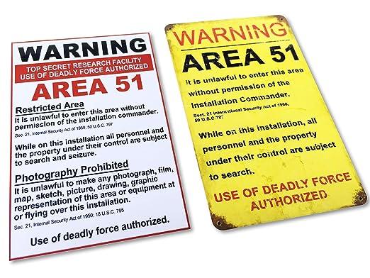 Desconocido Area 51 - Par de imanes para Nevera, diseño con Texto ...