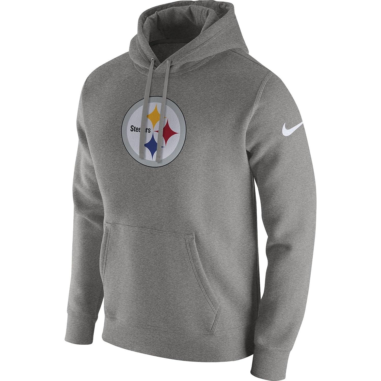b2087bb53ee8 Amazon.com  Nike Men s Pittsburgh Steelers Club Pullover Fleece Hoodie   Sports   Outdoors