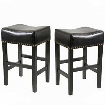 Fantastic Best Selling Lennox Backless Leather Bar Stool Black Set Of 2 Gmtry Best Dining Table And Chair Ideas Images Gmtryco
