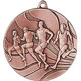 pokalspezialist 10 Stück Medaille Laufen/Leichtathletik aus Stahl, Gold/Silber / Bronze MMC2350