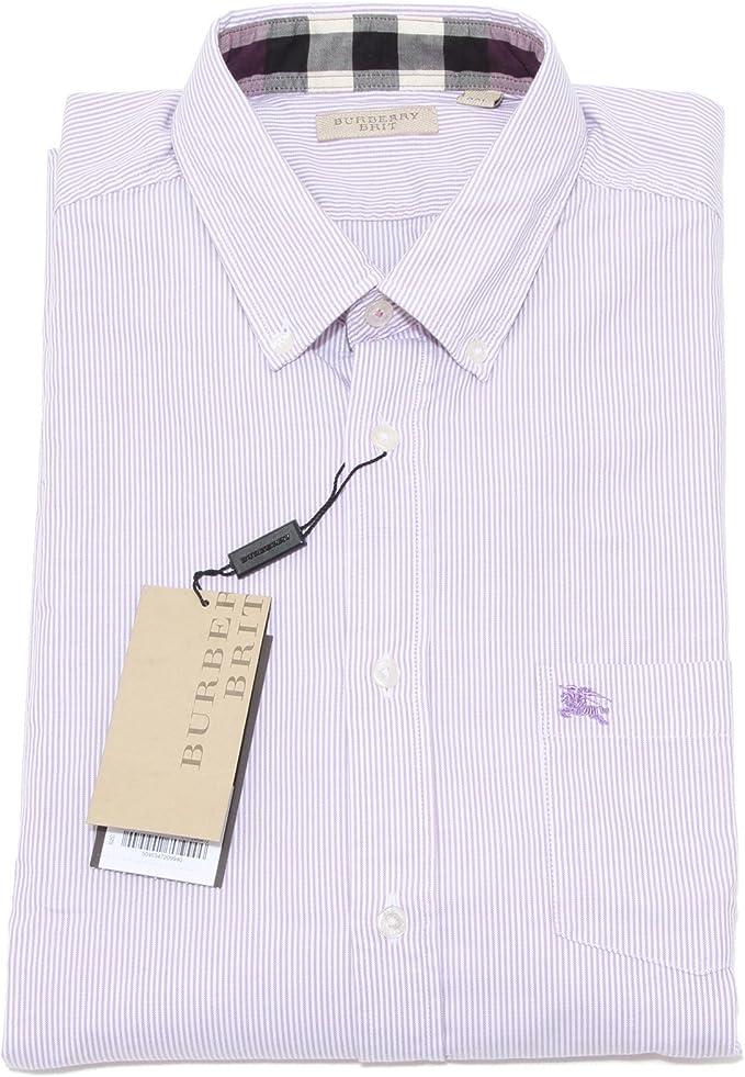 Burberry - Camisa casual - para hombre blanco Bianco/Viola XX ...